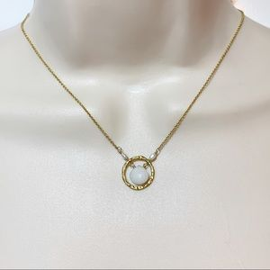Jewelry - Modern Dainty Circle 14K GF Real Pearl Necklace